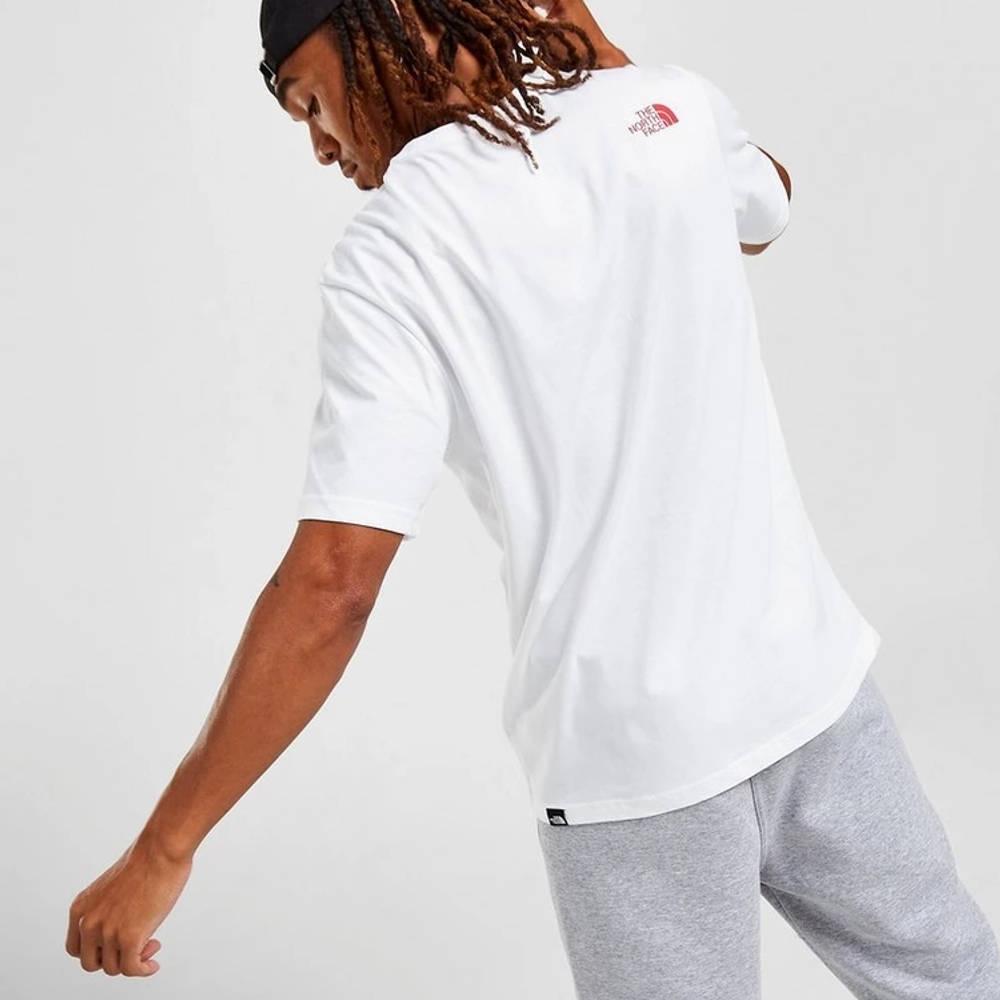 The North Face Tri-Line Logo T-Shirt White Back