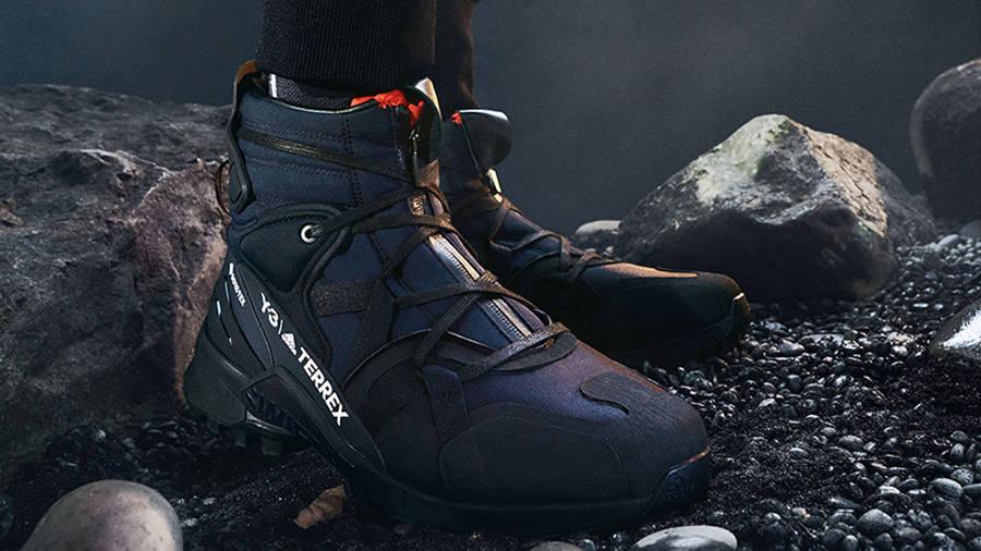 adidas Y-3 Terrex Swift R3 GTX Black on foot