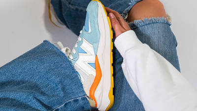 New Balance 57-40 Oyster Pink W5740PG1 on foot
