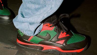 Supreme x Nike Cross Trainer Low Multi Black on foot